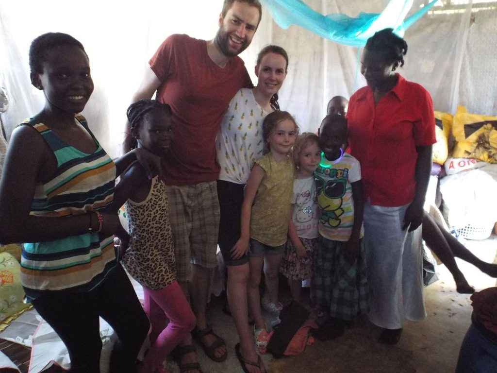 Greg and family in Kenya.