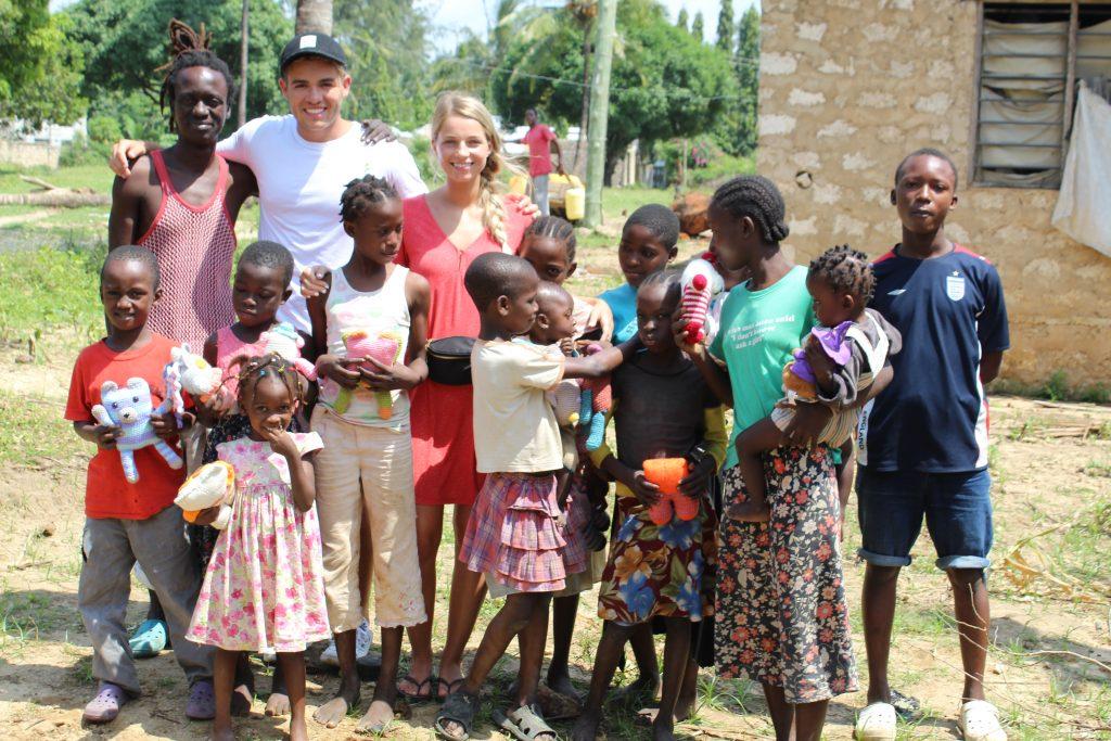 Charlotte & Cameron Wilkey with Kenyan Kids